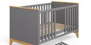 """Ліжечко дитяче """"Міла"""" СІРИЙ - меблі з дерева в дитячу та спальню від фабрики Venger"""