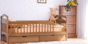 """Ліжко дитяче з перегородками """"Аріна"""" - меблі з дерева в дитячу та спальню від фабрики Venger"""