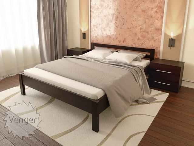 """Ліжко двоспальне """"Віола"""" - меблі з дерева в дитячу та спальню від фабрики Venger"""