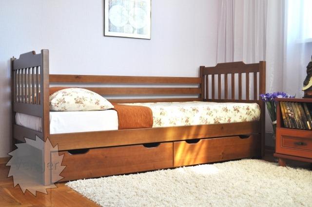 """Ліжко дитяче """"Єва"""" - меблі з дерева в дитячу та спальню від фабрики Venger"""