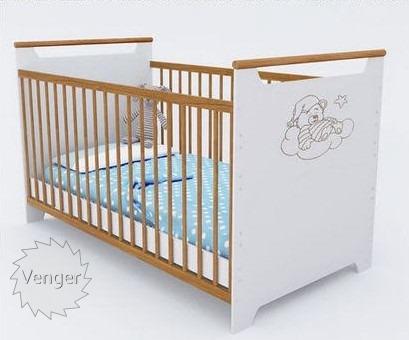 """Ліжечко трансформер """"Ведмежатко"""" Білий/бук - меблі з дерева в дитячу та спальню від фабрики Venger"""