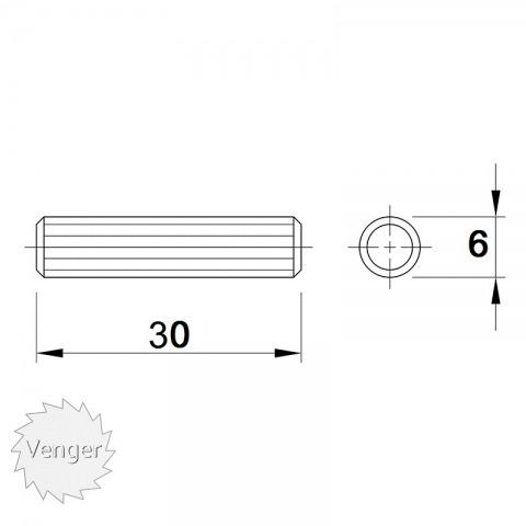 Шканти 6 * 30 - меблі з дерева в дитячу та спальню від фабрики Venger
