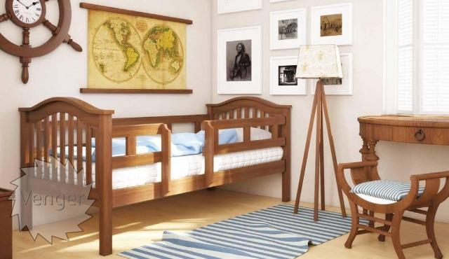 """Ліжко дитяче з перегородками """"Максим"""" - меблі з дерева в дитячу та спальню від фабрики Venger"""