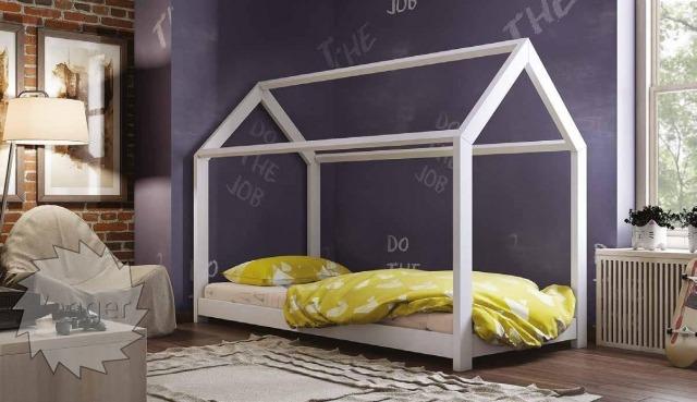 """Ліжко будинок """"Віккі"""" - меблі з дерева в дитячу та спальню від фабрики Venger"""
