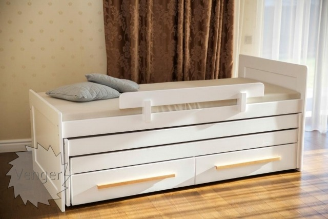 """Ліжко трансформер трьохярусне """"Ніколь"""" - меблі з дерева в дитячу та спальню від фабрики Venger"""