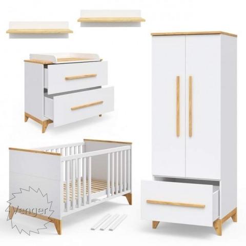 """Система сегментів в дитячу """"Міла"""" БІЛИЙ - меблі з дерева в дитячу та спальню від фабрики Venger"""