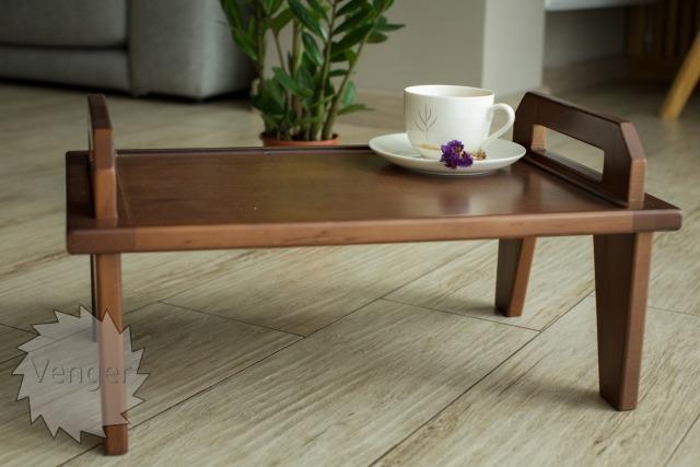 Столик піднос трансформер (вільха) - меблі з дерева в дитячу та спальню від фабрики Venger