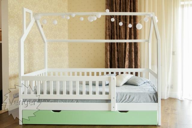 """Ліжко будинок """"Віккі New +"""" - меблі з дерева в дитячу та спальню від фабрики Venger"""