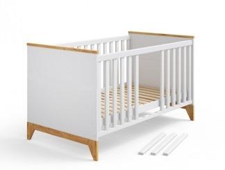 """Ліжечко дитяче """"Міла"""" БІЛИЙ - меблі з дерева в дитячу та спальню від фабрики Venger"""