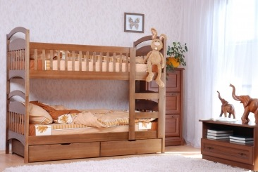 """Ліжко двоярусне """"Аріна"""" - меблі з дерева в дитячу та спальню від фабрики Venger"""