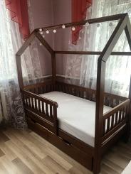 """Ліжко будинок """"Віккі New""""  - меблі з дерева в дитячу та спальню від фабрики Venger"""