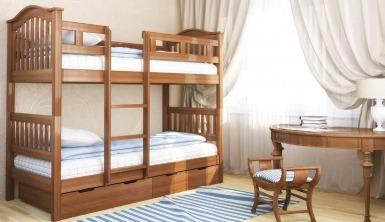 """Ліжко двоярусне """"Максим"""" - меблі з дерева в дитячу та спальню від фабрики Venger"""
