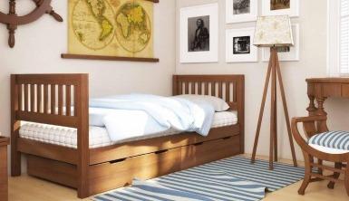 """Ліжко дитяче """"Максим"""" - меблі з дерева в дитячу та спальню від фабрики Venger"""