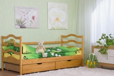 """Дитяче ліжко """"Софія"""" - меблі з дерева в дитячу та спальню від фабрики Venger"""