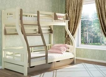 """Ліжко двоярусне """"Світлана"""" - меблі з дерева в дитячу та спальню від фабрики Venger"""